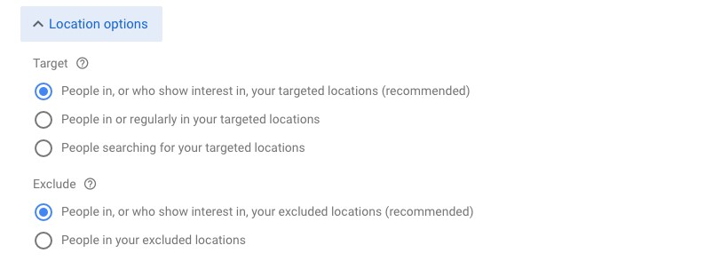 Renovation in location Exclusions